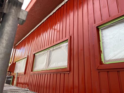 三島市中塗り塗装外壁