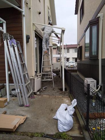 沼津市外壁塗装テラス屋根