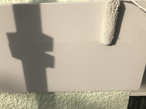 沼津屋根外壁塗装帯板上塗り