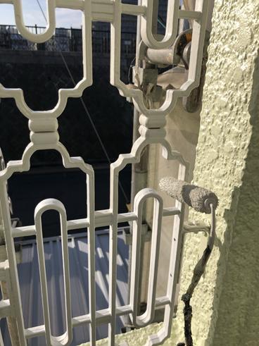沼津屋根外壁塗装ベランダ鉄柵