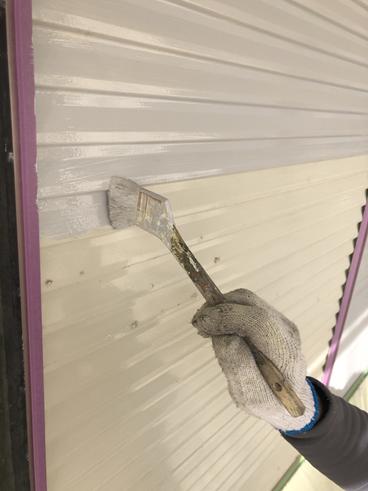 沼津屋根外壁塗装雨戸上塗り