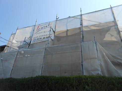 沼津市外壁塗装足場