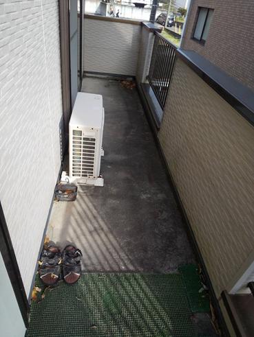 沼津市外壁塗装ベランダ
