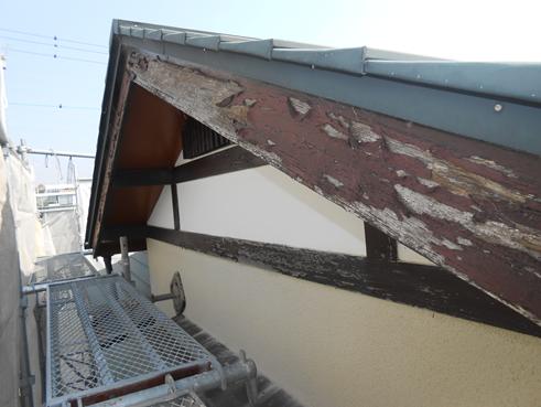 沼津市外壁塗装破風板