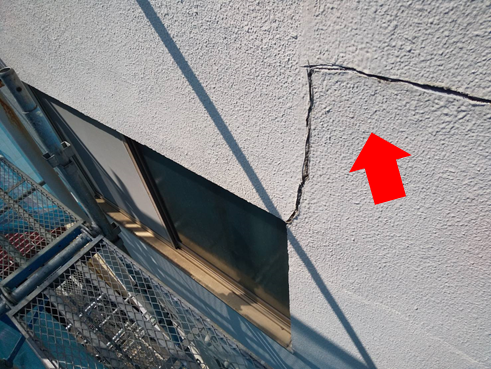 沼津市外壁クラック