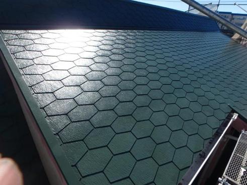 清水町屋根塗装後
