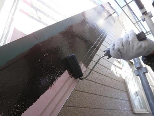 清水町屋根塗装破風板