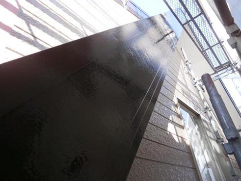 清水町破風板屋根塗装後