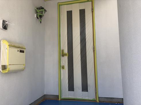 裾野市外壁塗装玄関まわり