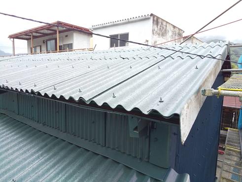 沼津倉庫塗装屋根