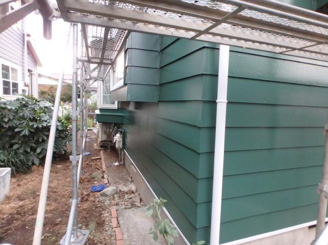 沼津市外壁東側塗装後