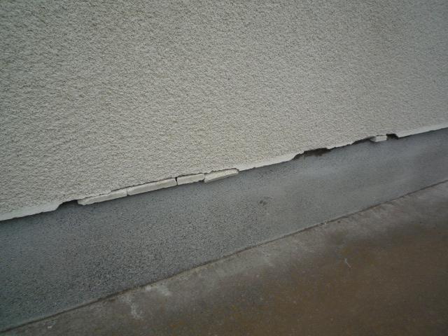 沼津市外壁基礎部分破損