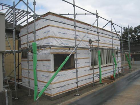 沼津港事務所外壁サイディング