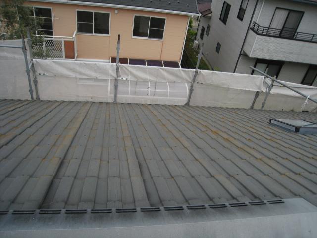 三島市屋根塗装前