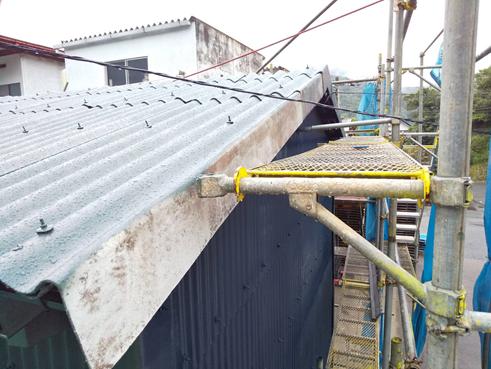 沼津倉庫屋根塗装