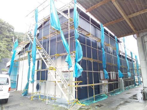 沼津倉庫塗装外壁