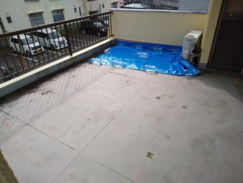 沼津ベランダ雨漏り防水