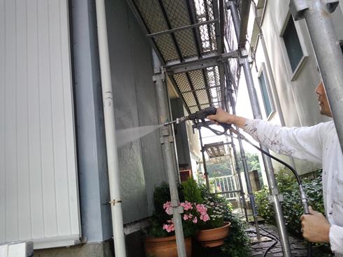 三島市外壁塗装高圧洗浄