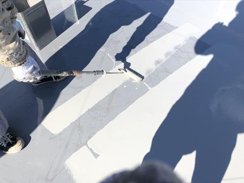 三島アパート屋上塗装