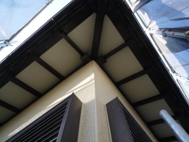 沼津市外壁塗装軒天垂木塗装後