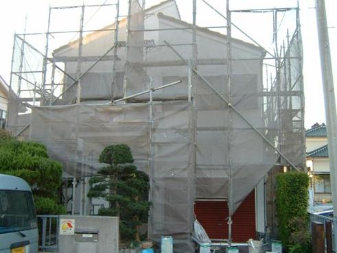 沼津外壁塗装足場